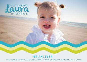 Beachy Fun Party Invitations