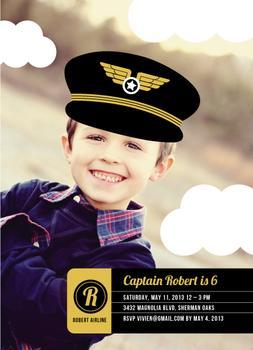 Little Pilot Party Invitations
