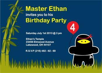 Cutest Ninja in the World Party Invitations