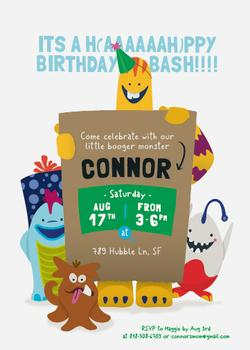 H(aaaah)ppy Birthday Bash Party Invitations