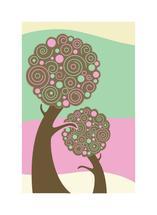 Swirled Trees by Mark Wilson