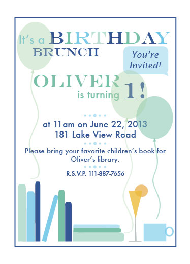 party invitations - 1st Birthday Brunch by Emily Pinto