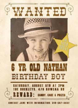 WANTED Birthday Boy or Girl