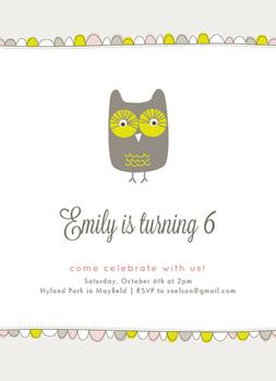 Vintage Owl Party Invitations