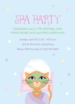 Purrrfect Spa Party