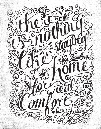 art prints - there is nothing like staying home... by Matthew Taylor Wilson