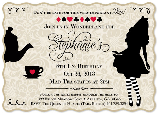 Alice In Wonderland Invitation Ideas as awesome invitations layout