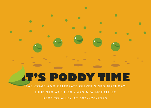 party invitations - Grocery: Peas by koshi
