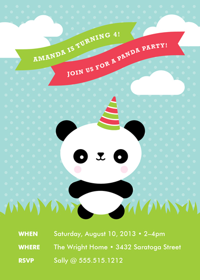 party invitations - Party Panda by Genna Cowsert