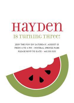 Watermelon Fun Party Invitations