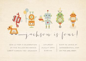 Robot Parade Party Invitations