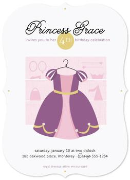 Princess Dressup Party Invitations