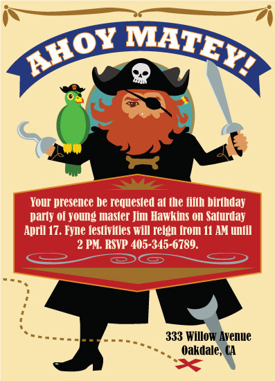 party invitations - Redbeard's Invitation by TeeEm