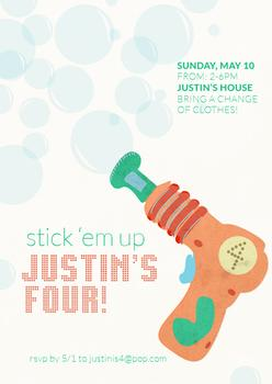 Stick 'Em Up Party Invitations
