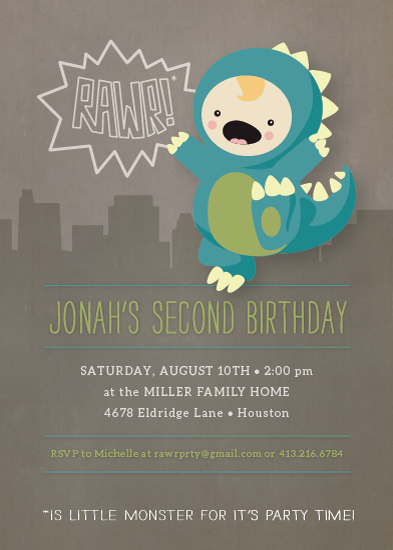 party invitations - Our LIttle Monster by Dawn Jasper