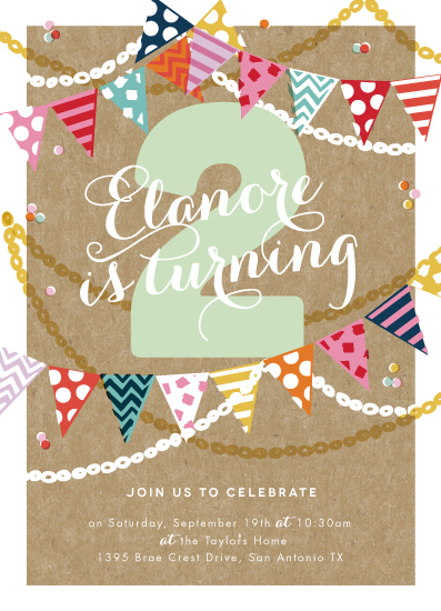 party invitations - Garland Celebration by Alethea and Ruth