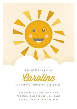 Smiling Sunshine Party Invitations
