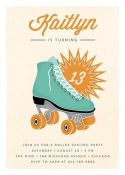 Retro Skate Party Invitations