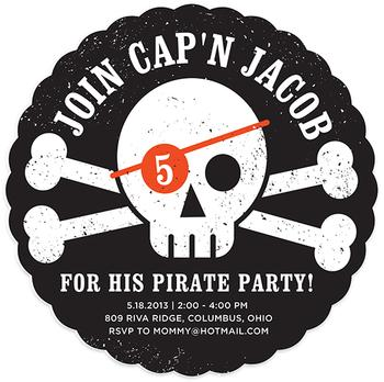 Pirate Paarrrrrrty Party Invitations