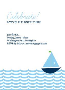 Sail Away Invite