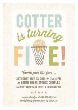 Basketball Fun Party Invitations