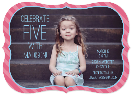 party invitations - Pink and Sky Perfection by Rachel Wiandt