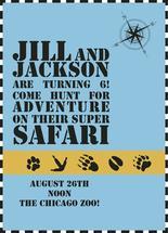 Super Safari Invite by Inez D - Atelier