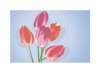 Tulip Cluster Art Prints