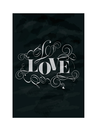 art prints - Chalkboard Love by Trendy Peas