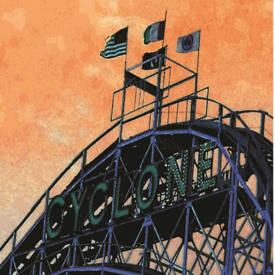 art prints - Coney Island - The World by OnePaperHeart