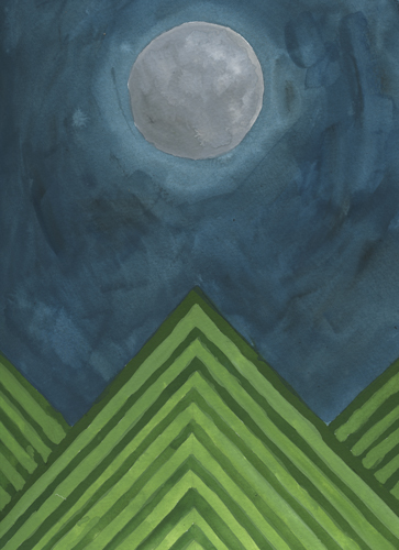 art prints - Moon Over Mountains by A Little Big Picture