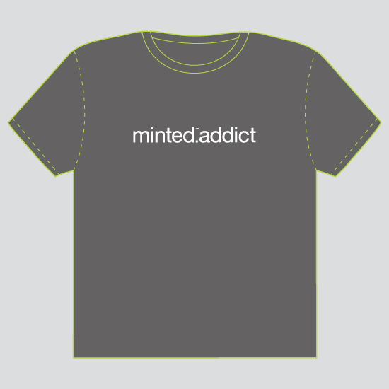 minted t-shirt design - Minted Addict - 2012 by Guess What Design Studio