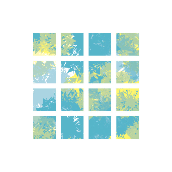 art prints - Squared Splatter by Clara Pierce