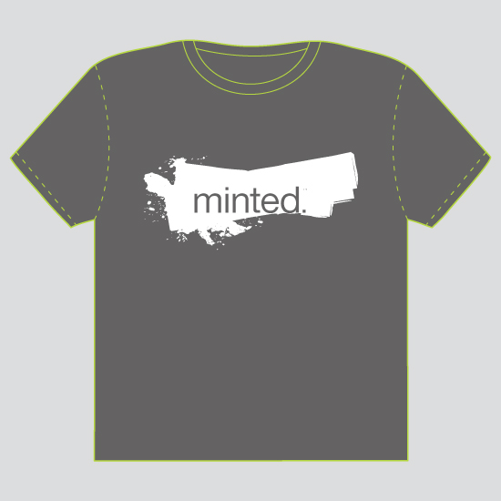 minted t-shirt design - Creativity is Messy - 2010 by Paper Dahlia