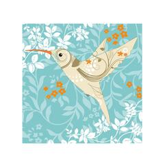 Floral Hummingbird Art Prints
