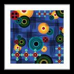 Blue Big Bold Abstract by Lynnie Daley