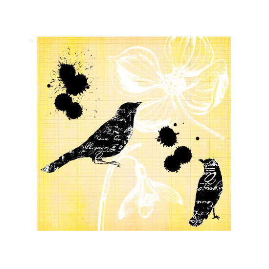 art prints - Blackbirds + Poetry by Marisu