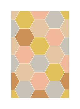Honeycomb Tile Art Prints