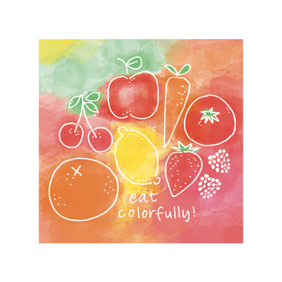 art prints - Eat Colorfully by Catherine Sullivan