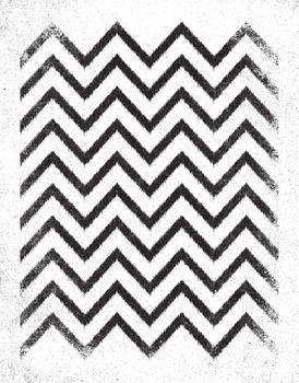 IKAT CHEVRON Art Prints