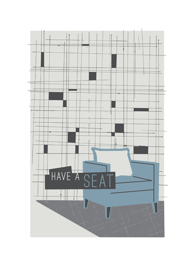 art prints - A Seat For You by Melissa Ponicsan