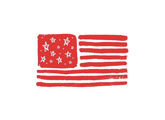 art prints - Stars & Stripes by June Letters Studio