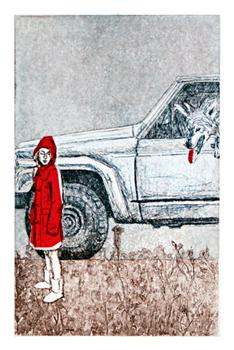 Girl in Red 1 Art Prints