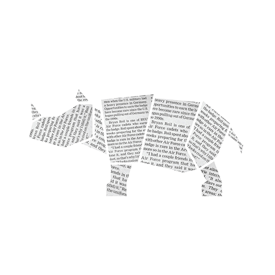 art prints - Well Read Rhino by Noelle Stolworthy