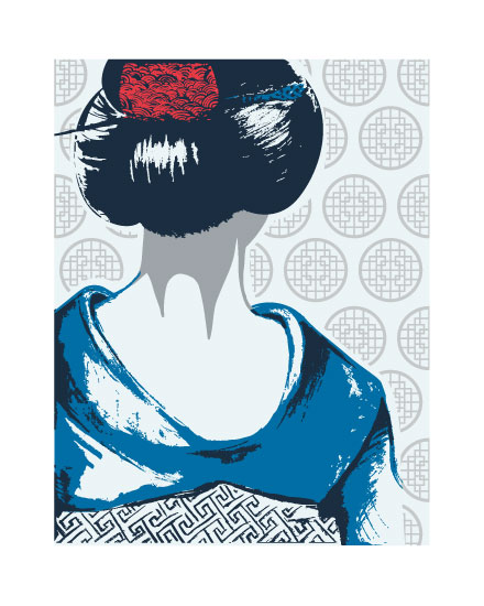 art prints - Geisha Contemplates by Oh Yeah Write