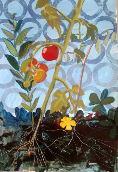 art prints - Coming Down,Tomato by Debra Bianculli