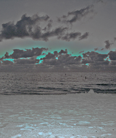 art prints - electric beach by jennifer evangelist
