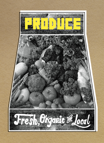 art prints - Buy Local Produce by Molly Leonard