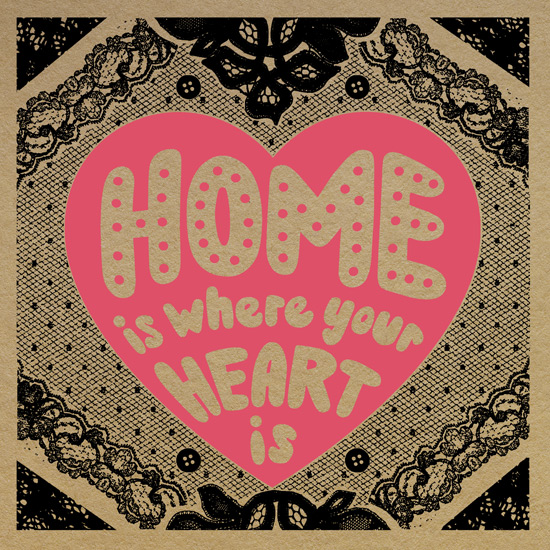 art prints - Home is where your heart is by Molly Leonard