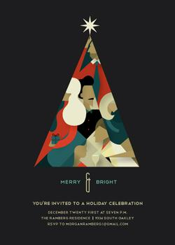 Merry & Bright Party Invitations